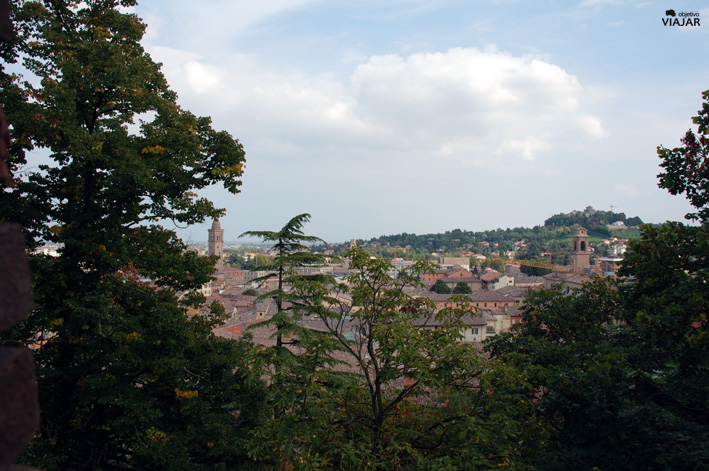 Cesena desde las murallas de la Rocca Malatestiana