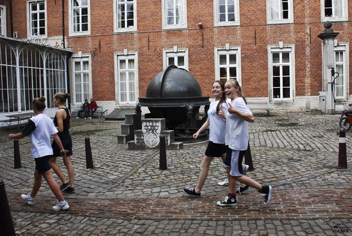 Estudiantes en el Colegio Arras. Lovaina