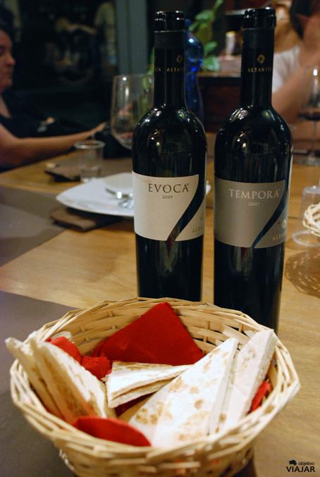 Evoca y Tempora, dos exquisitos Sangioveses de las bodegas Altavita. Cesena. Italia