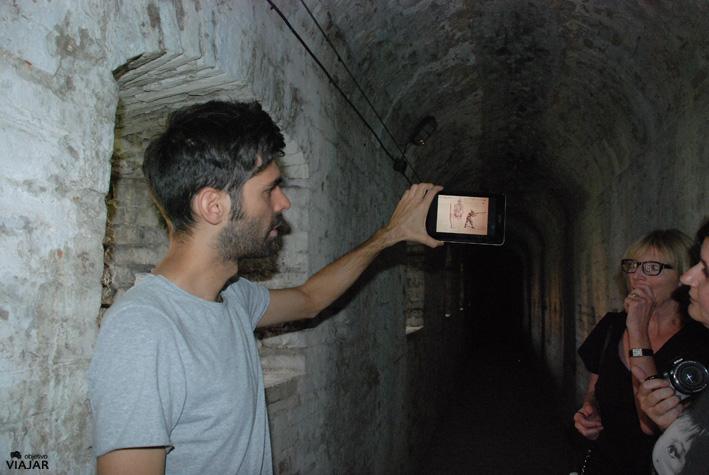 Recorriendo las entrañas de la Rocca Malatestiana. Cesena. Italia