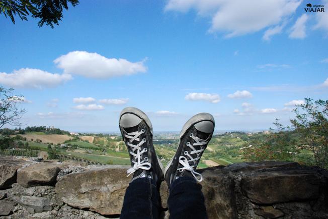 Un momento de relax en la casa de turismo rural Castrum Sagliani. Saiano di Cesena. Italia