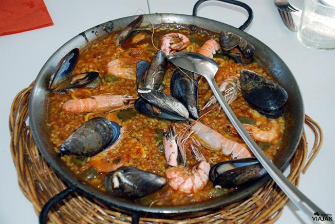 Paella del Chiringuito Las Sardinitas de Moncho's. Barcelona