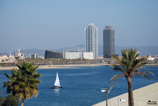Panorámica del litoral barcelonés
