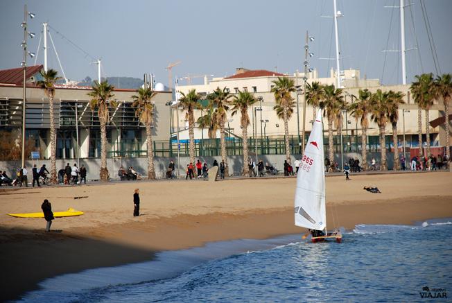 Playa de Sant Sebastià. Barcelona