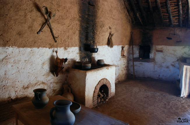 Interior casa romana. Numancia. Soria