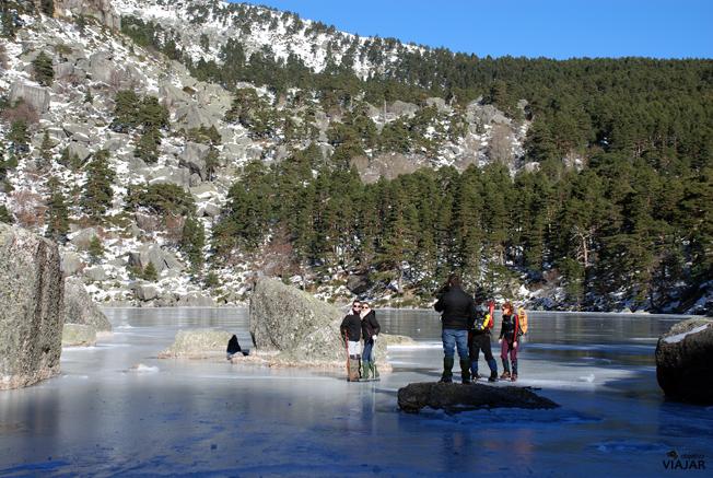 La Laguna Negra helada. Soria