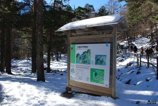 Panel de información de la Laguna Negra. Soria
