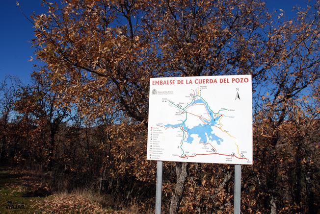 Plano del embalse de la Cuerda del Pozo. Soria