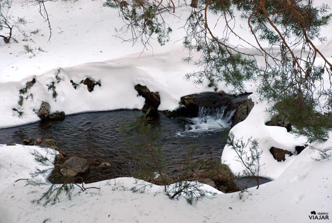 Un arroyo entre la nieve. Laguna Negra. Soria