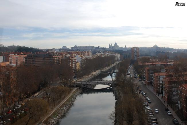 El Manzanares a vista de pájaro. Madrid
