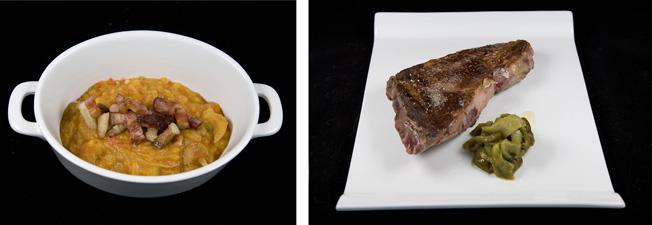 Patatas revolconas y chuletón de Ávila