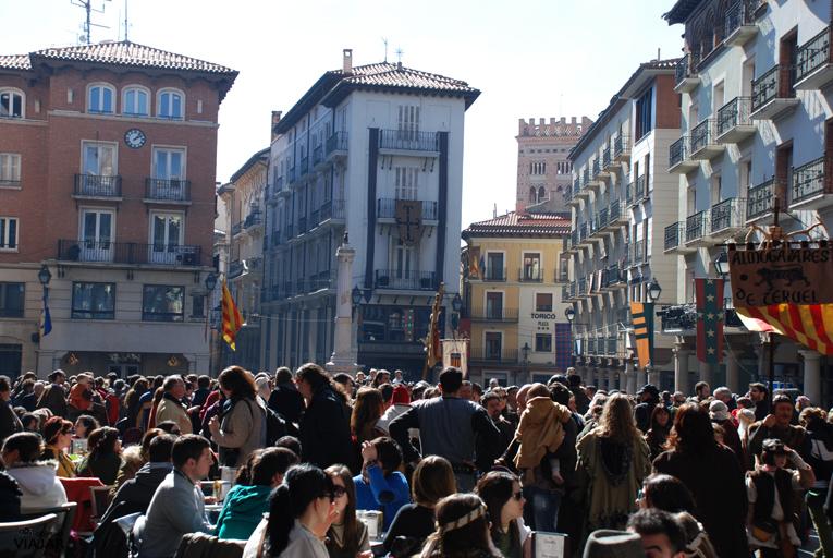 Plaza del Torico. Bodas de Isabel. Teruel