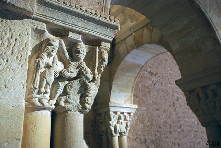 Capitel de la iglesia de San Juan de Duero. Soria