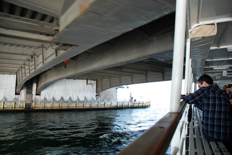 Atravesando el Puente Gálata. Estambul