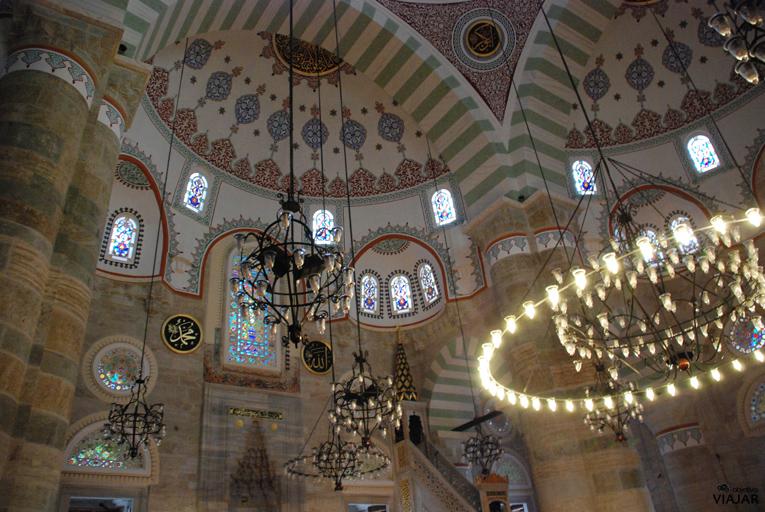 Interior de la Mezquita de Mihrimah Sultán. Üsküdar. Estambul