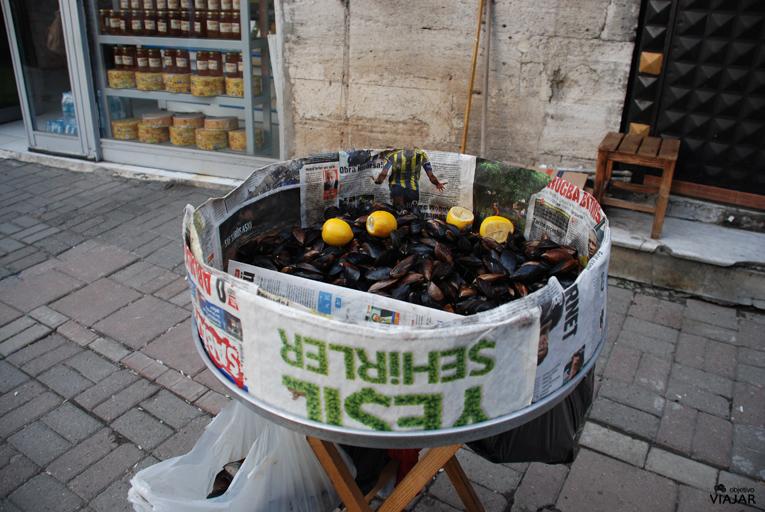 Los clásicos mejillones con limón de Estambul