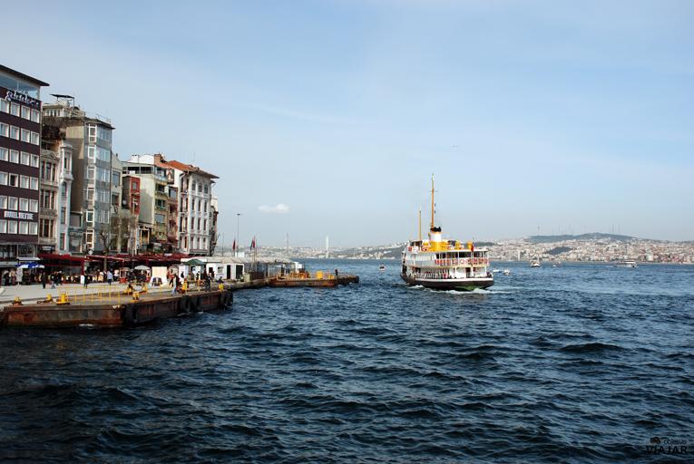 Unión del Cuerno de Oro y el Mar de Mármara. Estambul