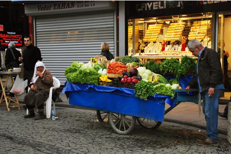 Vendedor de verduras. Üsküdar. Estambul