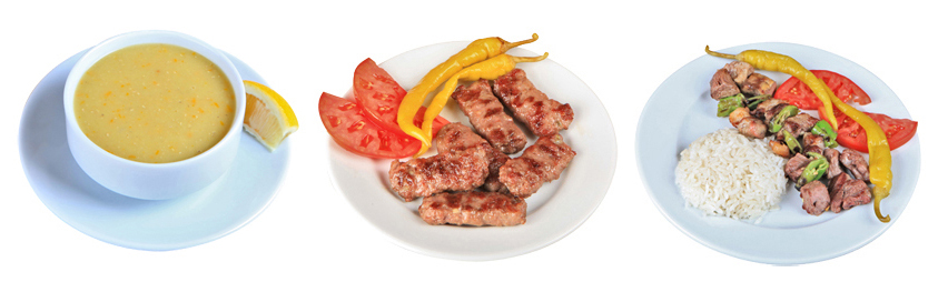 Menú en el Tarihi Sultanahamet Köftecisi. Estambul