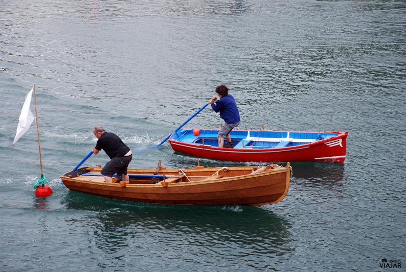 Regatas en el puerto de Lekeitio