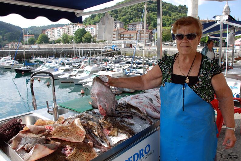 Vendedora de pescado. Lekeitio