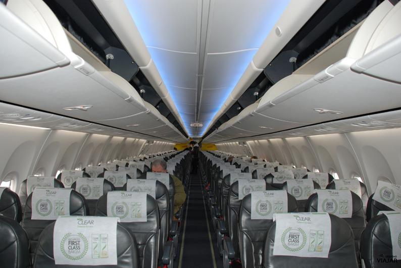 Interior del avión de Pegasus Airlines