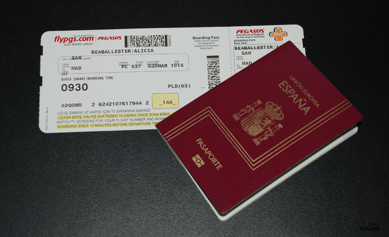 Tarjeta de embarque de Pegasus Airlines
