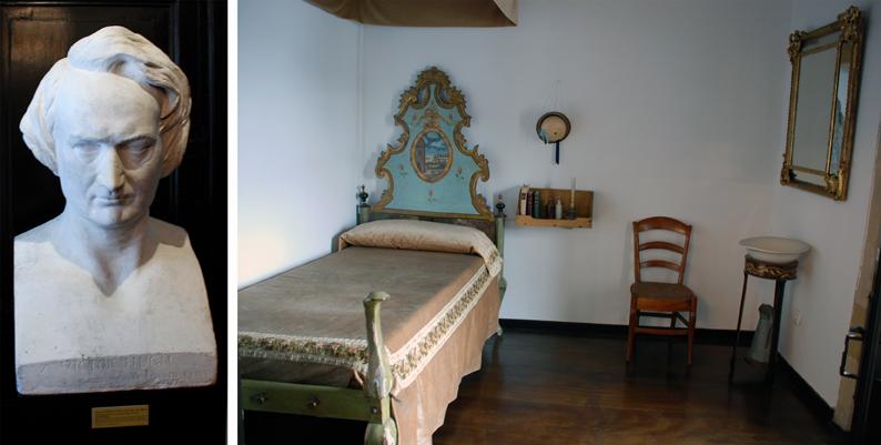 Busto y habitación de Victor Hugo. Pasai Donibane. Pasaia