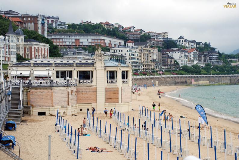 Centro Talaso-Sport La Perla. Playa de La Concha. San Sebastián