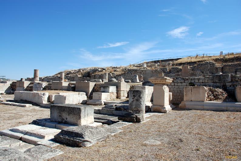 Detalle del foro.  Parque Arqueológico de Segóbriga