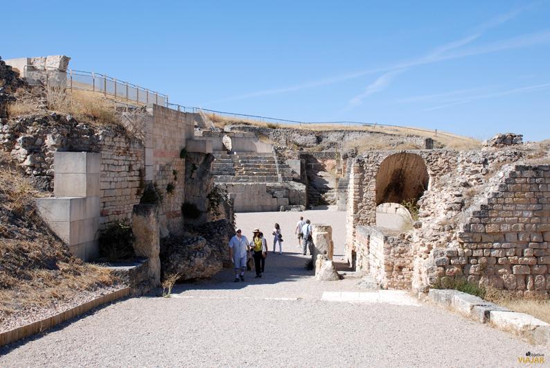 Entrada al anfiteatro. Parque Arqueológico de Segóbriga