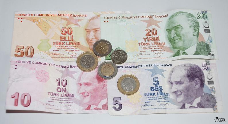 Liras turcas. Estambul