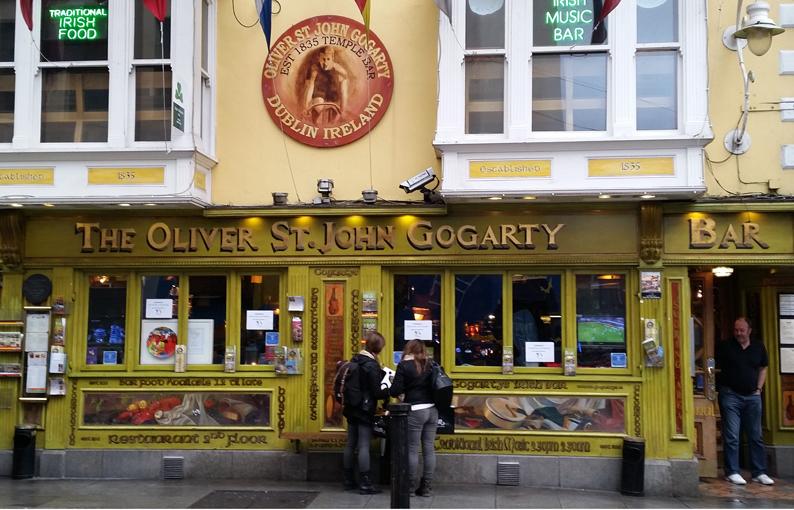 Oliver St. John Gogarty. Pubs Dublín