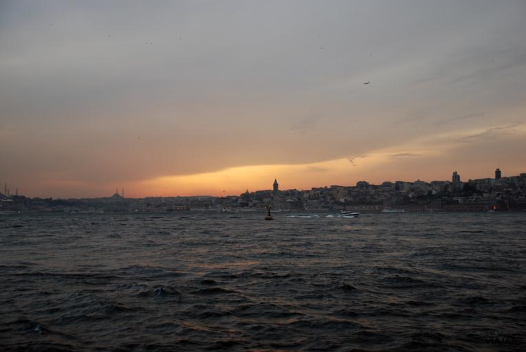 Puesta de sol desde Üsküdar. Estambul