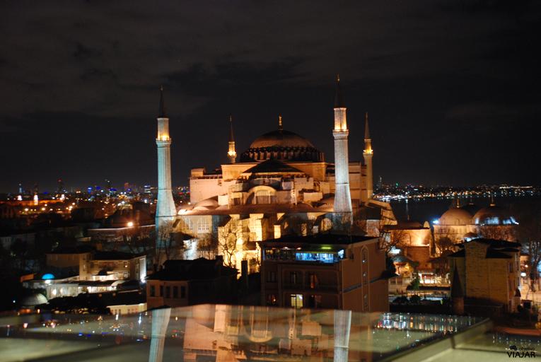 Santa Sofía desde la terraza del hotel Adamar. Estambul