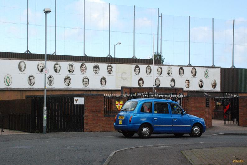 Memorial en Bombay Street. Belfast