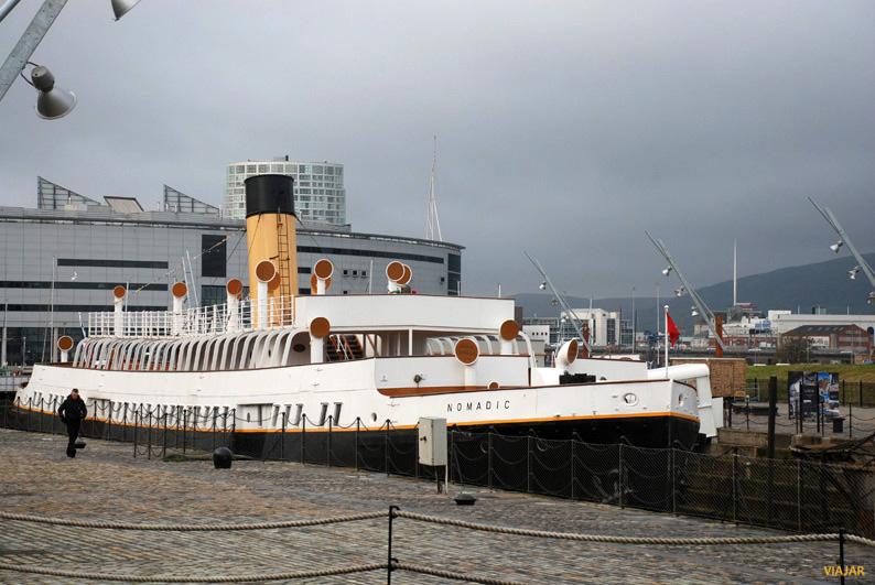 El SS Nomadic. Muelle Hamilton Graving. Belfast