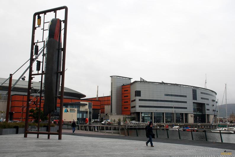 Odissey Arena y puerto de Belfast