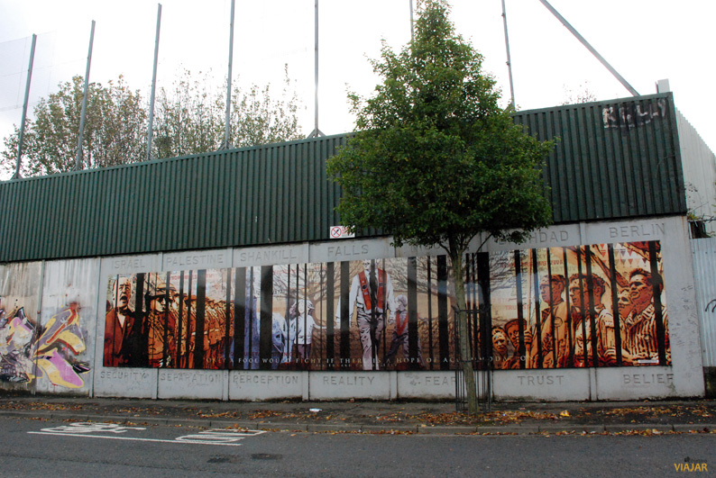 Tramo del Muro de la Paz. Belfast