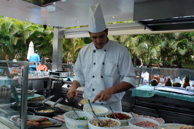 Cocina en directo. Seaside Palm Beach