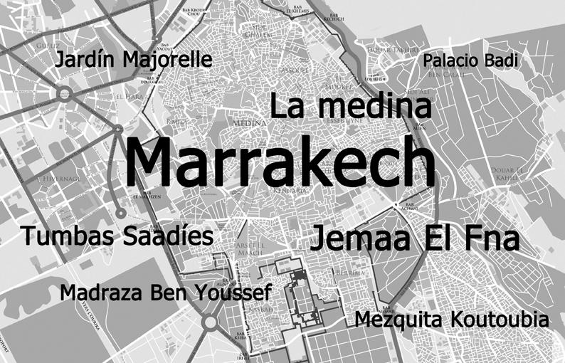 Mapa Marrakech
