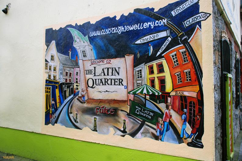 Mural en el Barrio Latino. Galway