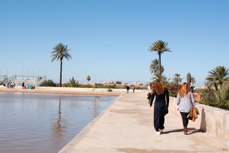 Estanque de los jardines de la Menara. Marrakech