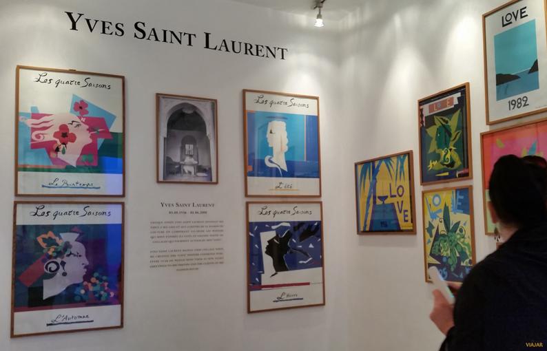 Galería Love de Yves Saint Laurent. Jardín Majorelle. Marrakech