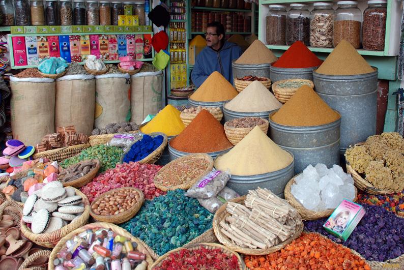 Puesto de especias. Marrakech