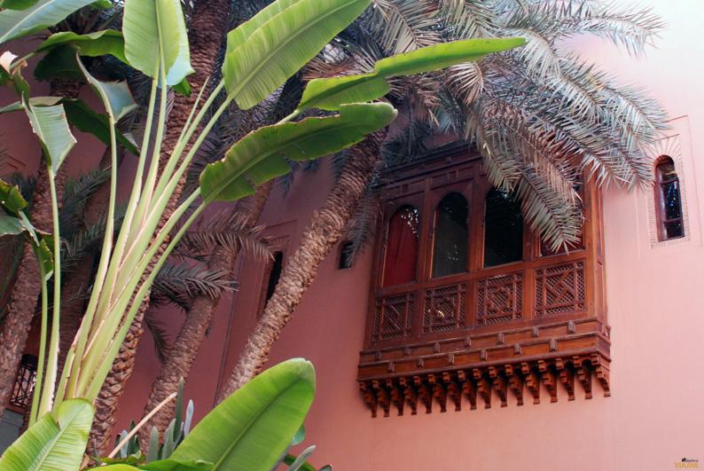 Detalles de arquitectura marroquí. Hotel Royal Mansour. Marrakech