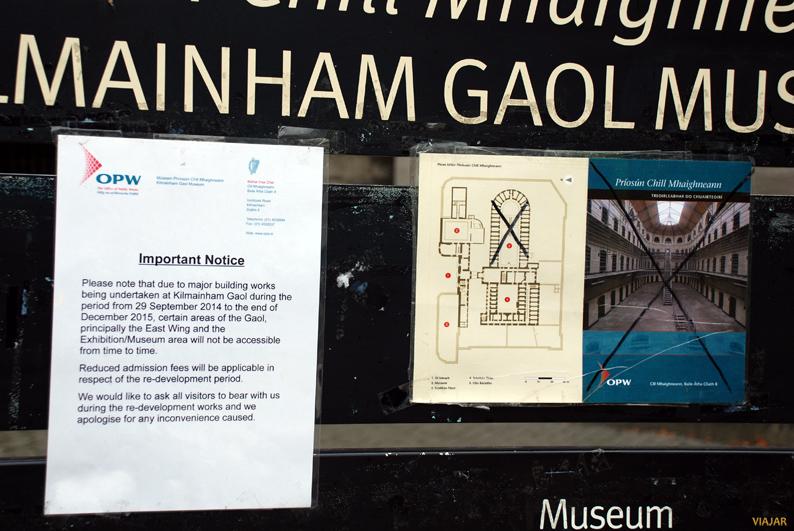 El ala Este permanecerá cerrada hasta diciembre del 2015. Kilmainham Gaol. Dublín