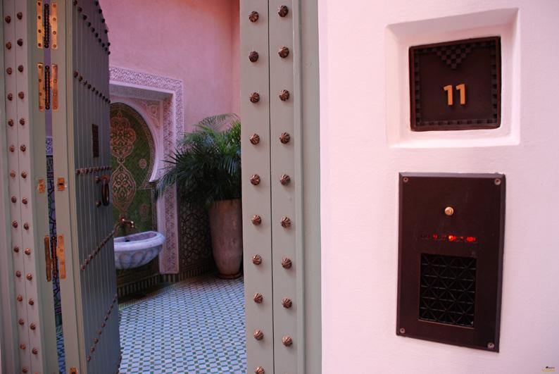 Entrada al riad. Hotel Royal Mansour. Marrakech