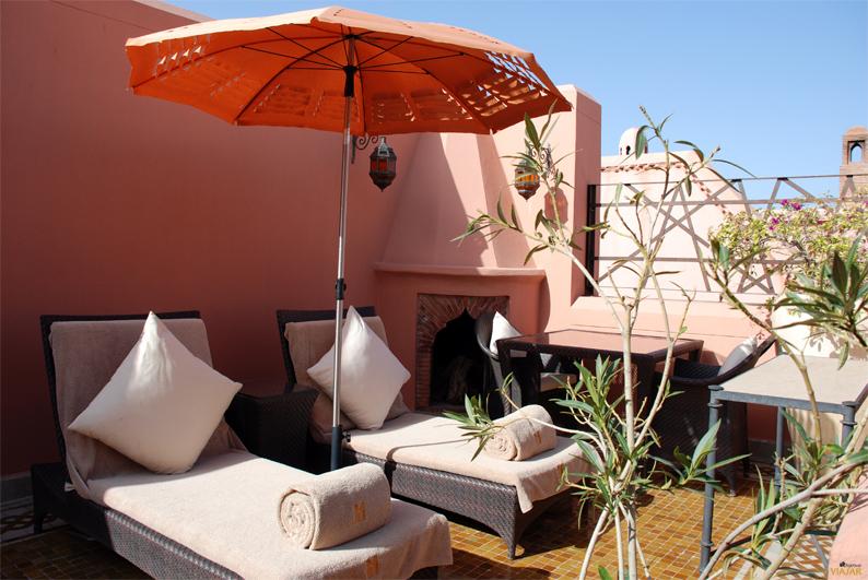 Imposible no relajarse en un entorno así. Hotel Royal Mansour. Marrakech