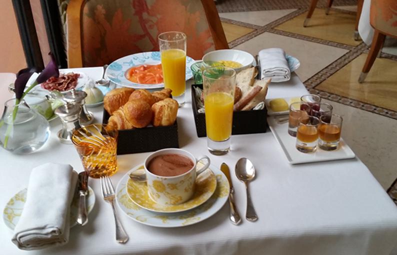 Los desayunos de este fantastico hotel